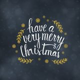 Merry Christmas typography design vector illustration Stock Photo