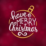 Merry Christmas typography design vector illustration. Merry Christmas typography design, Winter season greeting card, vector illustration Stock Photography