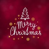 Merry Christmas typography design vector illustration. Merry Christmas typography design, Winter season greeting card, vector illustration Royalty Free Stock Photos