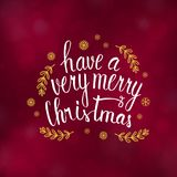 Merry Christmas typography design vector illustration. Merry Christmas typography design, Winter season greeting card, vector illustration Royalty Free Stock Photography