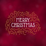Merry Christmas typography design vector illustration. Merry Christmas typography design, Winter season greeting card, vector illustration Stock Photos