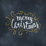 Merry Christmas typography design vector illustration Royalty Free Stock Image