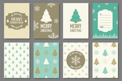 Merry Christmas typography and elements Stock Photography