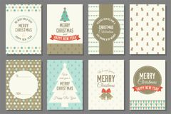 Merry Christmas typography and elements Royalty Free Stock Images