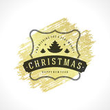 Merry Christmas Typography Greeting Card Design Royalty Free Stock Photography