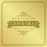 Merry Christmas Typography Greeting Card Design Royalty Free Stock Photo