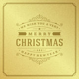 Merry Christmas Typography Greeting Card Design Royalty Free Stock Photos