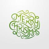 Merry Christmas Typography Stock Photos