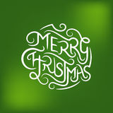 Merry Christmas Typography Royalty Free Stock Image