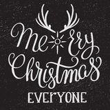 Merry Christmas typography. Stock Image