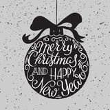 Merry Christmas typography. Stock Photography