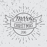 Merry Christmas typography. Stock Photos