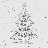 Merry Christmas typography. Royalty Free Stock Photography