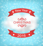 Merry Christmas Typography Lettering Design Stock Image