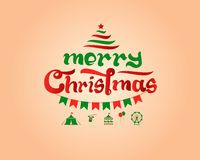 Merry Christmas Typography Stock Images