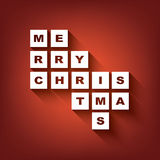 Merry christmas typography postcard concept design Royalty Free Stock Images