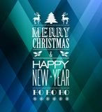 Merry christmas typography Royalty Free Stock Photos