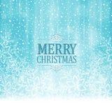 Merry Christmas typography winter wonderland background stock illustration
