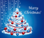 Merry christmas under snow. Royalty Free Stock Photo