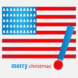 Merry christmas USA Stock Photography
