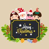 Merry christmas vecter royalty free illustration