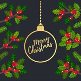 Merry christmas vecter stock image