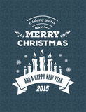Merry christmas vector against blue background Stock Images