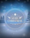 Merry christmas vector against snowy scene Stock Photography