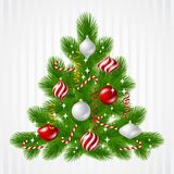 Merry Christmas vector background with tree and Royalty Free Stock Photo