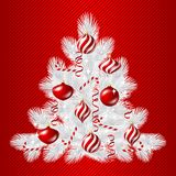 Merry Christmas vector background with tree and Stock Photo