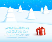 Merry Christmas Vector Background Stock Images