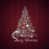 Merry Christmas vector card Royalty Free Stock Image