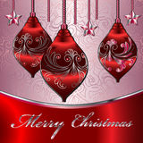 Merry Christmas Vector Card. Merry Christmas Elegant Suggestive Background for Greetings Card Stock Images