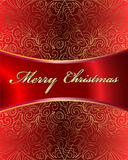Merry Christmas Vector Card. Merry Christmas Elegant Suggestive Background for Greetings Card Stock Photo