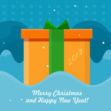 Merry Christmas Vector Concept in Flat design Royalty Free Stock Photography