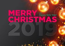 Merry Christmas Vector Dark Background Design. Happy New Year. Merry Christmas Vector Dark Background Design. Happy New Year 2019 Luxury Greeting Card. Stylish vector illustration
