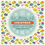 Merry Christmas vector decorating design Royalty Free Stock Image