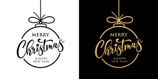 Merry christmas vector design black and gold collection on black and white