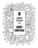 Merry Christmas! Vector doodles illustration Keep Calm and Merry Christmas. Merry Christmas! Vector doodles illustration Keep Calm and Merry Christmas with Royalty Free Stock Photo