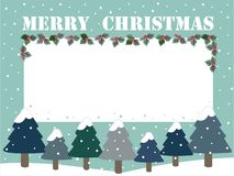 Merry Christmas vector and empty space vector illustration