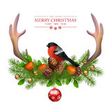 Merry Christmas vector greeting card Royalty Free Stock Photos