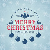 Merry Christmas! Vector greeting card. Royalty Free Stock Image