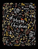 Merry Christmas vector greetings illustration.  Stock Images