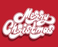 Merry Christmas. Vector handwritten lettering Stock Photography