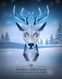 Merry christmas vector with hipster reindeer design Royalty Free Stock Photography
