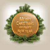 Merry Christmas. Vector Illustration Stock Image