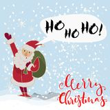 Merry christmas vector illustration. Stock Photo