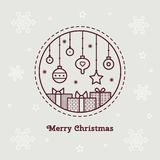 Merry Christmas. Vector illustration. Merry Christmas card. Vector illustration of Christmas decorations Royalty Free Stock Photography