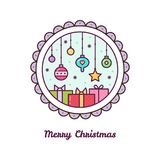 Merry Christmas. Vector illustration. Merry Christmas card. Vector illustration of Christmas decorations Royalty Free Stock Photo