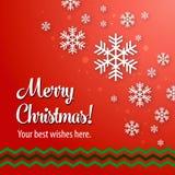 Merry Christmas Vector Illustration Stock Image